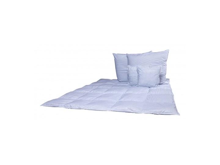 Zestaw Puch White & Blue kołdra 155x200 cm + 4 Poduszki Puchowa Kolor Biały