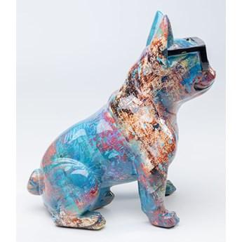 Figurka dekoracyjna Dog of Sunglass 30x37 cm kolorowa