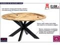 Okrągły stół z drewna mango – Gebel 3X Drewno Wysokość 76 cm Długość 150 cm  Pomieszczenie Stoły do salonu