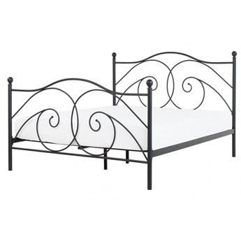 Łóżko metalowe 140 x 200 cm czarne DINARD kod: 4251682236607