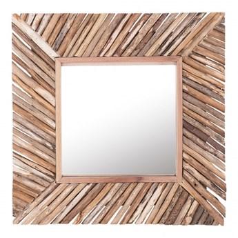 Lustro ścienne 60 x 60 cm jasne drewno KANAB kod: 4251682230582