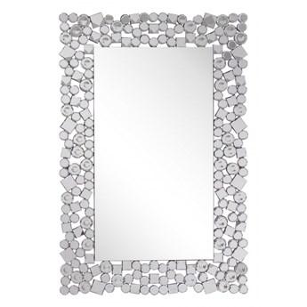Lustro ścienne 60 x 90 cm srebrne MERNEL kod: 4251682237178