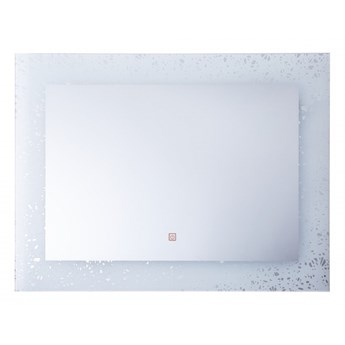 Lustro ścienne LED 60 x 80 cm srebrne MINOT kod: 4251682244572