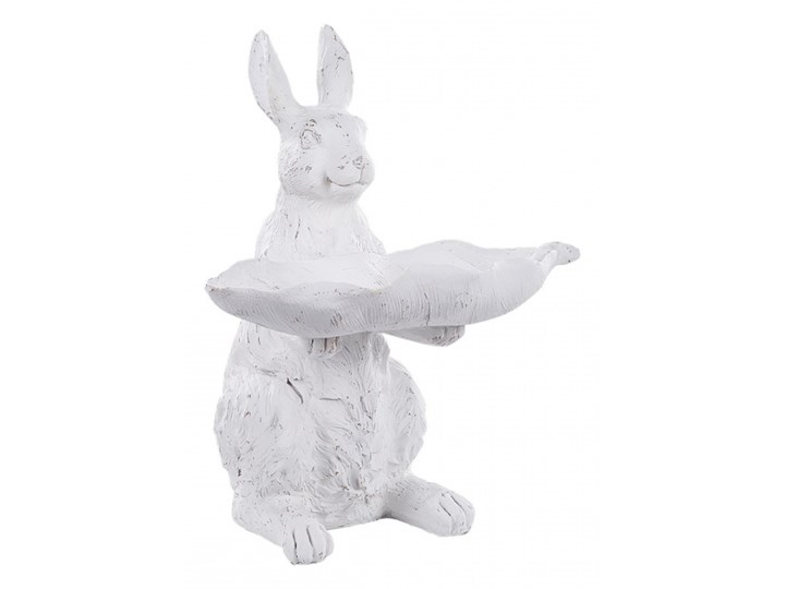 Figurka ogrodowa królik biała KAMO kod: 4251682242837
