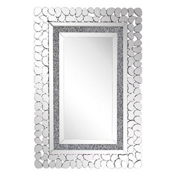 Lustro ścienne 60 x 90 cm srebrne PABU kod: 4251682237185