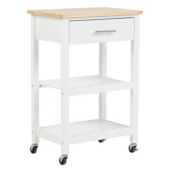 Wózek kuchenny biały HIUMA kod: 4251682205566