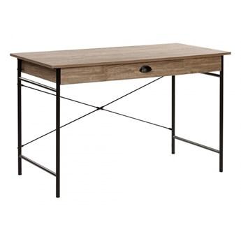 Biurko 120 x 60 cm brązowoszare drewno z czarnym CASCO kod: 4251682235778