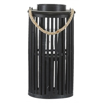 Lampion drewniany 40 cm czarny LUZON kod: 4251682242998