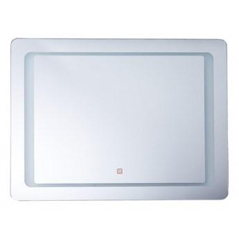 Lustro ścienne 60 x 80 cm srebrne WASSY kod: 4251682244565
