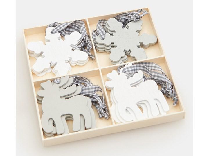 Sinsay - Zawieszki świąteczne - Jasny szary Kolor Biały Drewno Kategoria Ozdoby bożonarodzeniowe