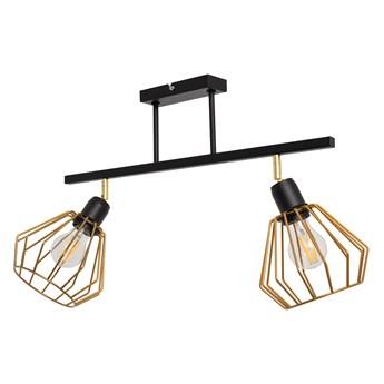Lampa sufitowa AGAT czarno-złota 2 pł