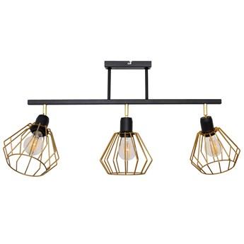 Lampa sufitowa AGAT czarno-złota 3pł