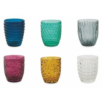 Zestaw 6 kolorowych szklanek Villa d'Este Geometrie, 240 ml