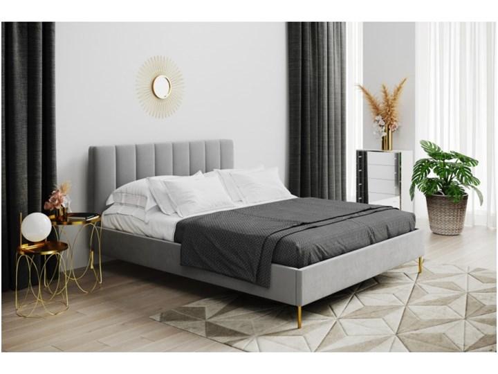Łóżko tapicerowane KORONA 160x200 w pionowe pasy Kategoria Łóżka do sypialni Rozmiar materaca 160x200 cm