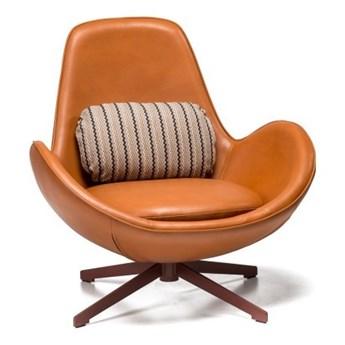 Fotel Salamanka brązowy/ brązowa podstawa