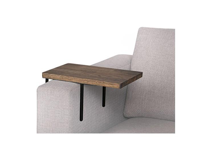 HELPER Stolik boczny do sofy Czarny-dab Drewno Kolor Brązowy