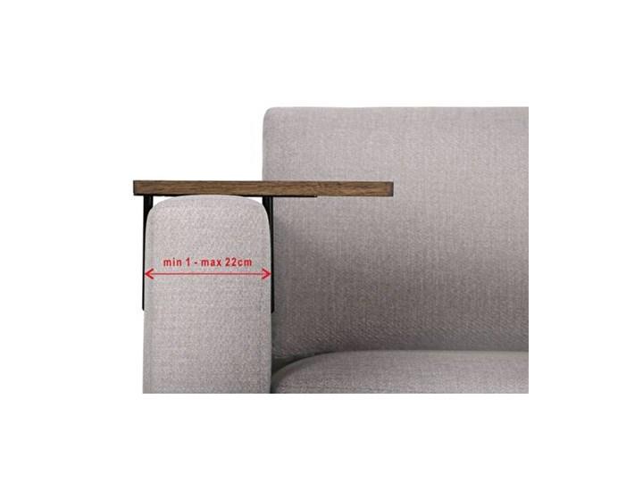 HELPER Stolik boczny do sofy Czarny-dab Drewno Rozmiar blatu 20x35 cm Kolor Szary