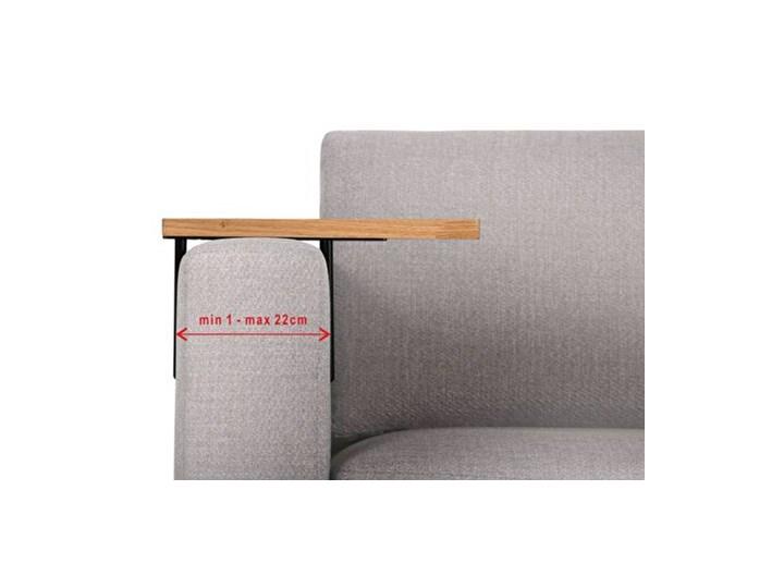 HELPER Stolik boczny do sofy Czekoladowy Stal Drewno Kolor Brązowy Rozmiar blatu 20x35 cm