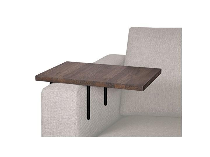 HELPER stolik boczny do sofy duży Czarny-dab Wysokość 22 cm Marmur Drewno Kolor Brązowy