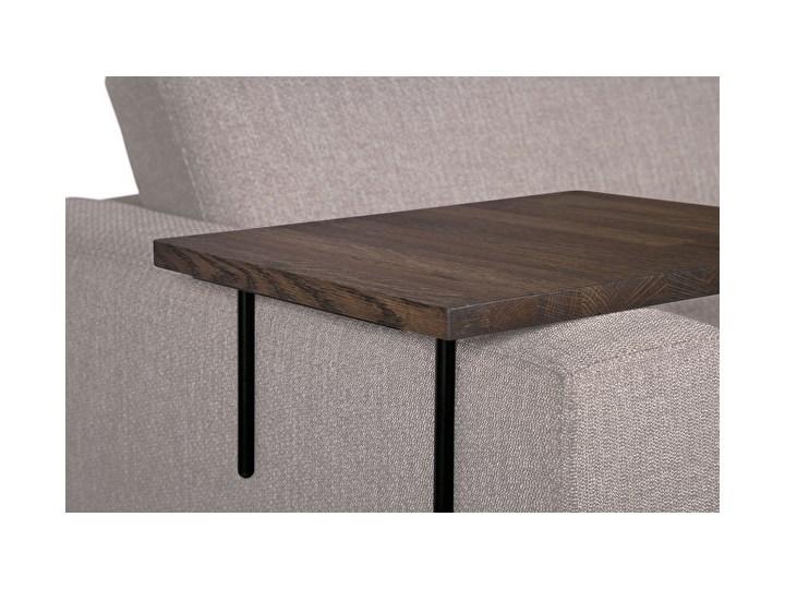 HELPER stolik boczny do sofy duży Czarny-dab Marmur Drewno Wysokość 22 cm Kolor Brązowy Kolor Szary