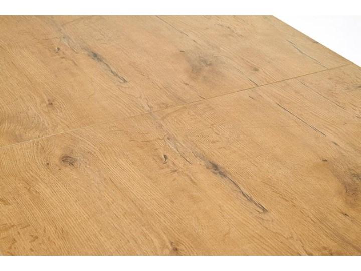 Rozkładany stół do jadalni 140÷220cm biały+dąb lancelot Drewno Wysokość 80 cm Szerokość 80 cm Płyta MDF Długość 220 cm Długość 140 cm  Wysokość 76 cm Długość 80 cm  Rozkładanie Rozkładane