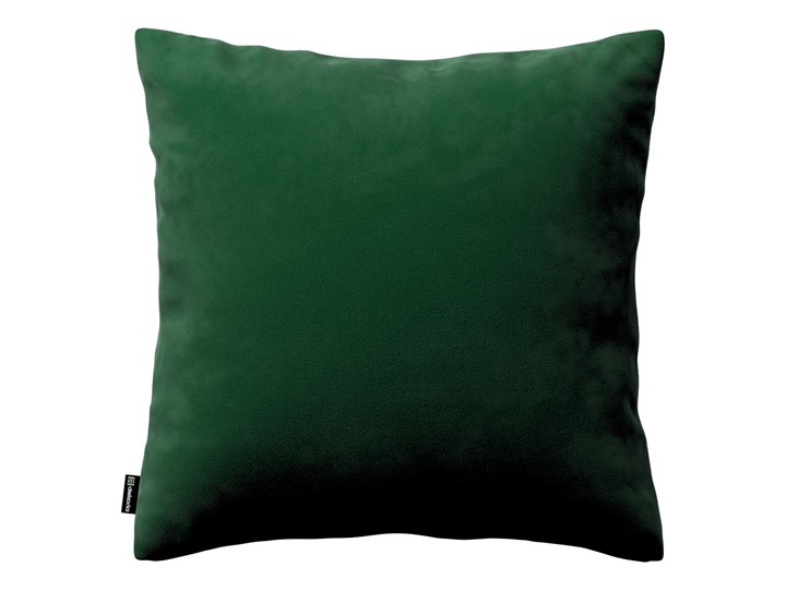 Poszewka Kinga na poduszkę, butelkowa zieleń, 43 × 43 cm, Velvet Poliester 40x60 cm 43x43 cm 45x45 cm 60x60 cm Kwadratowe 50x50 cm Poszewka dekoracyjna Prostokątne 45x65 cm Kolor Zielony