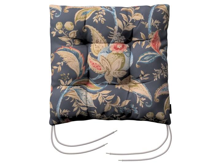 Siedzisko Jacek na krzesło, roślinne wzory na granatowym tle , 38 × 38 × 8 cm, Gardenia Kategoria Siedziska na krzesła