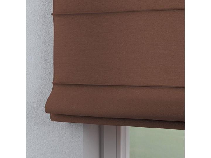 Roleta rzymska Capri, brązowy, szer.80 × dł.170 cm, Loneta Typ Roleta transparentna
