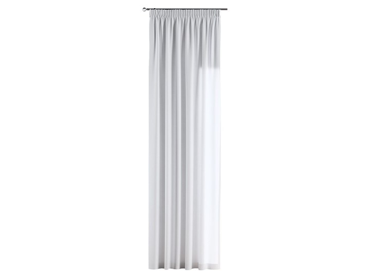 Zasłona na taśmie marszczącej 1 szt., śmietankowa biel, 1szt 130 × 260 cm, Loneta 130x260 cm Poliester Mocowanie Zasłona zaciemniająca Bawełna Pomieszczenie Kuchnia