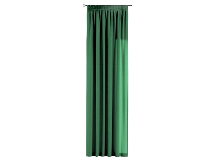 Zasłona na taśmie marszczącej 1 szt., butelkowa zieleń, 1szt 130 × 260 cm, Loneta Zasłona zaciemniająca Poliester 130x260 cm Bawełna Pomieszczenie Jadalnia