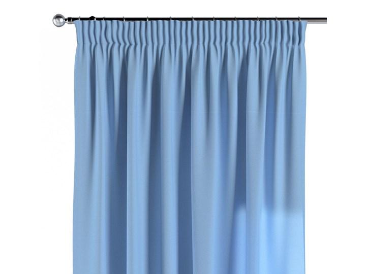 Zasłona na taśmie marszczącej 1 szt., niebieski, 1szt 130 × 260 cm, Loneta 130x260 cm Bawełna Wzór Gładkie Zasłona zaciemniająca Poliester Mocowanie