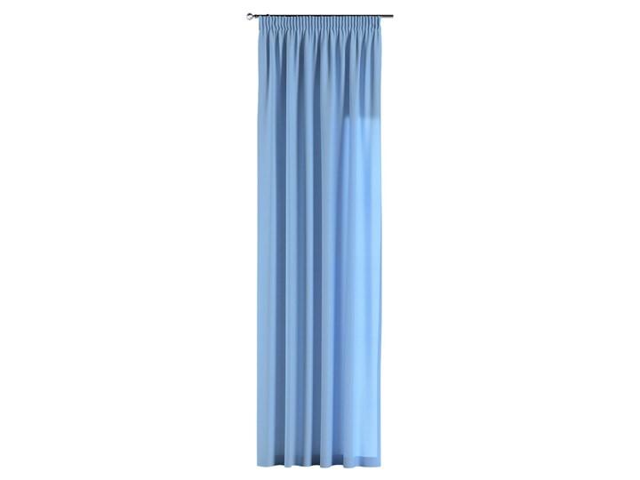 Zasłona na taśmie marszczącej 1 szt., niebieski, 1szt 130 × 260 cm, Loneta 130x260 cm Bawełna Poliester Zasłona zaciemniająca Wzór Gładkie