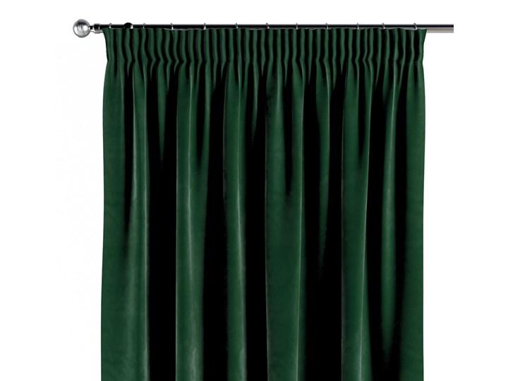 Zasłona na taśmie marszczącej 1 szt., butelkowa zieleń, 1szt 130 × 260 cm, Velvet Poliester 130x260 cm Zasłona prześwitująca Kolor Zielony Pomieszczenie Salon