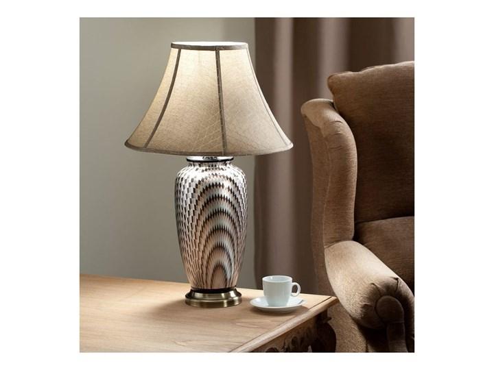 Lampa stołowa Maiko ceramiczna 71cm, 71 cm Kategoria Lampy stołowe Lampa z kloszem Kolor Srebrny