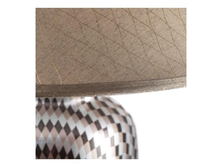 Lampa stołowa Maiko ceramiczna 71cm, 71 cm Kolor Beżowy Lampa z kloszem Kategoria Lampy stołowe