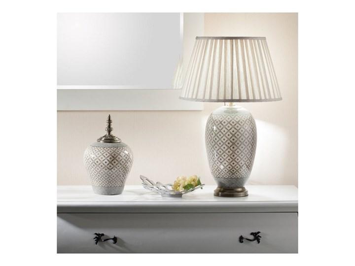 Waza ceramiczna Shiho z pokrywką 36cm, 36 cm Ceramika Metal Kategoria Wazony Kolor Szary