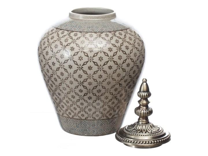 Waza ceramiczna Shiho z pokrywką 36cm, 36 cm Metal Ceramika Kategoria Wazony Kolor Szary