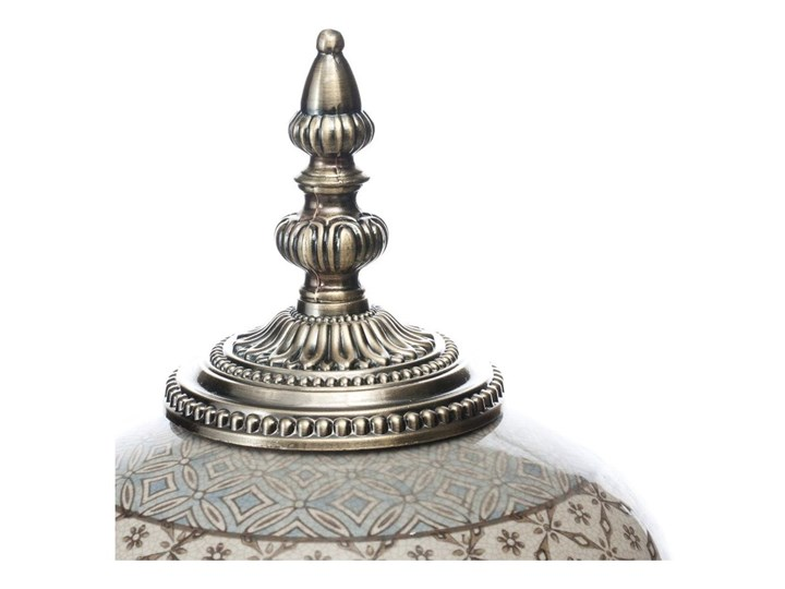 Waza ceramiczna Shiho z pokrywką 36cm, 36 cm Ceramika Kategoria Wazony Metal Kolor Szary