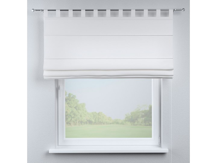 Roleta rzymska Verona, śmietankowa biel, szer.80 × dł.170 cm, Loneta Pomieszczenie Sypialnia Wzór Gładkie