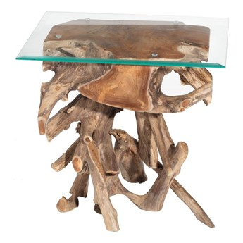 Stolik Kelimutu ciemny 61x50x65cm, 61 × 50 × 65 cm