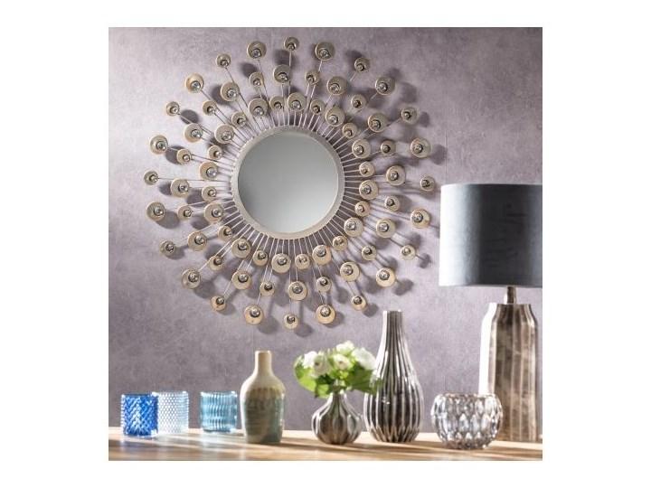Lustro okrągłe Peacock 80cm, 80 cm Lustro z ramą Ścienne Pomieszczenie Salon