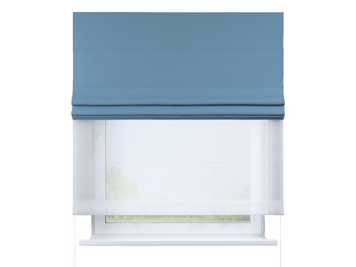 Roleta rzymska Duo, niebieski, szer.130 × dł.170 cm, Blackout - zaciemniające Pomieszczenie Pokój nastolatka Roleta woalowa Wzór Gładkie