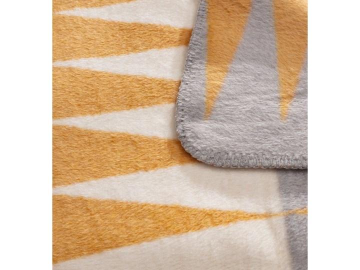Koc Cotton Cloud 150x200cm India, 150×200cm Kolor Pomarańczowy 150x200 cm Akryl Bawełna Wzór Z nadrukiem