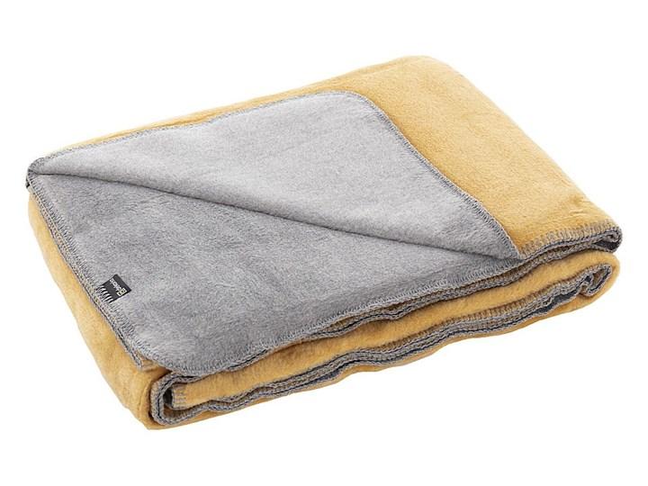 Koc Cotton Cloud 150x200cm  Mustard&Grey, 150 x 200 cm Akryl Bawełna 150x200 cm Kategoria Koce i pledy