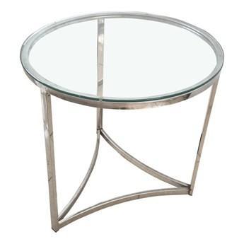 Stolik okrągły szklany HUGO stolik kawowy