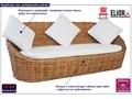 Trzyosobowa sofa z naturalnego rattanu - Prima Drewno Kolor Brązowy Kategoria Sofy ogrodowe