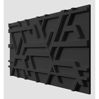 120x60x3,5 cm VT - PB27  (B15 czarny) Kor - panel dekor 3D beton architektoniczny