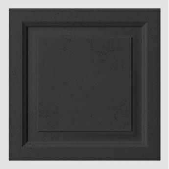 60x60x3 cm VT - PB33b  (B15 czarny) Rama - panel dekor 3D beton architektoniczny
