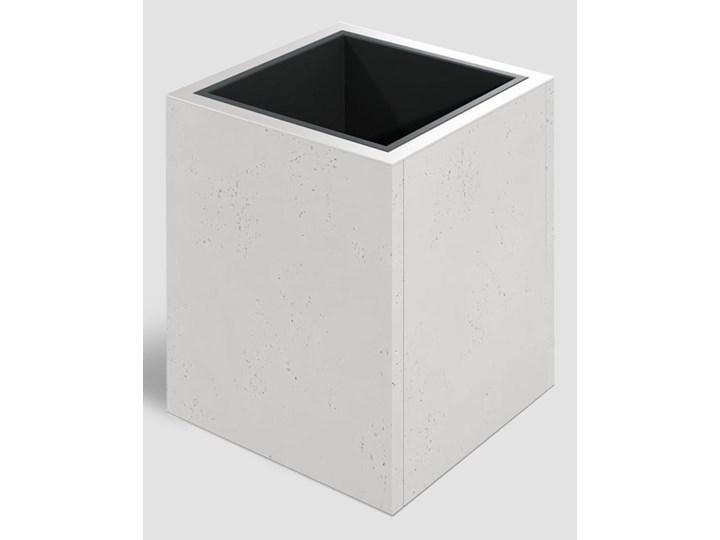 44x44x50 cm VT - Donica betonowa  (S51 szary ciemny 'mysi') Prostokątny Donica ogrodowa Kwadratowy Donica balkonowa Kategoria Donice ogrodowe