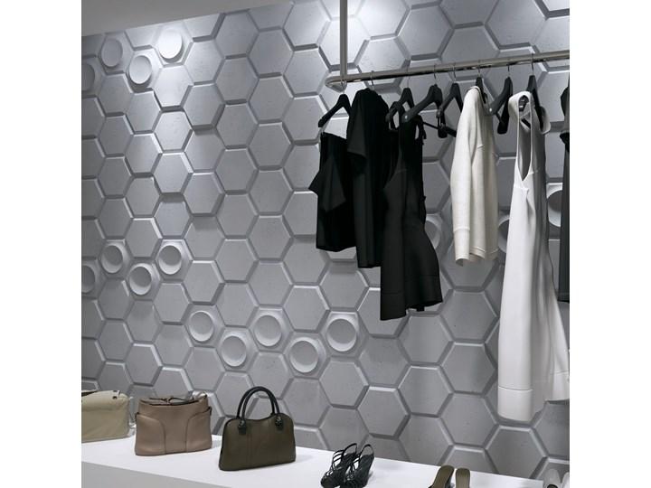 97,5x65x3,5 cm VT - PB01  (B8 antracyt) HEKSAGON - panel dekor 3D beton architektoniczny Kategoria Panele 3D Kolor Szary